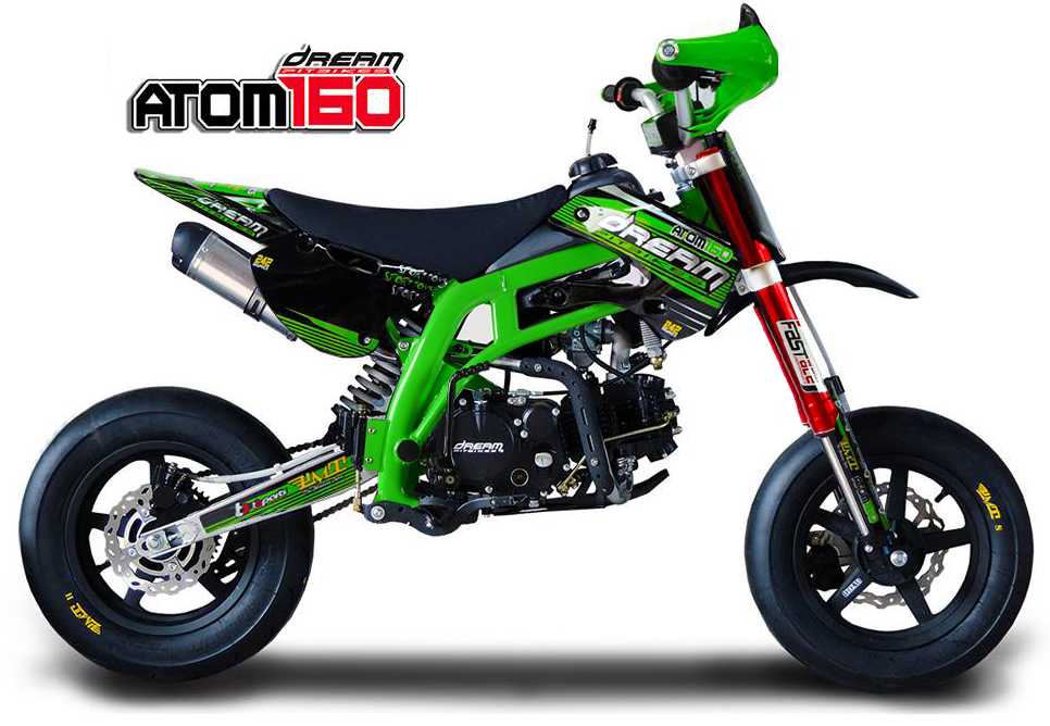 pitbike atom 160ts9 pro motard sport pitbike fatbike shop. Black Bedroom Furniture Sets. Home Design Ideas