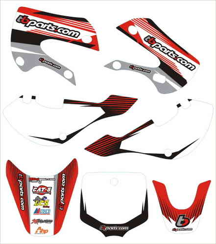 TBW0648 SET ADESIVI TB PARTS KLX110 STYLE