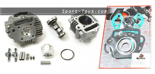 TB PARTS KIT BIG BORE 54mm (114cc) PER MOTORI 70/88/110cc YX, LIFAN, ZS GPX