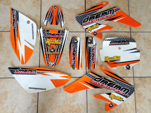 SET ADESIVI PITBIKE CRF70 DREAM ROOKIE
